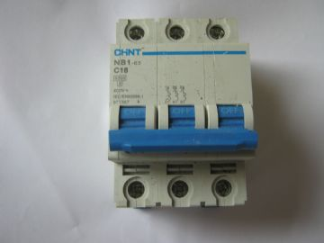 CHINT NB1-63 C16 16 AMP TRIPLE POLE MCB CIRCUIT BREAKER